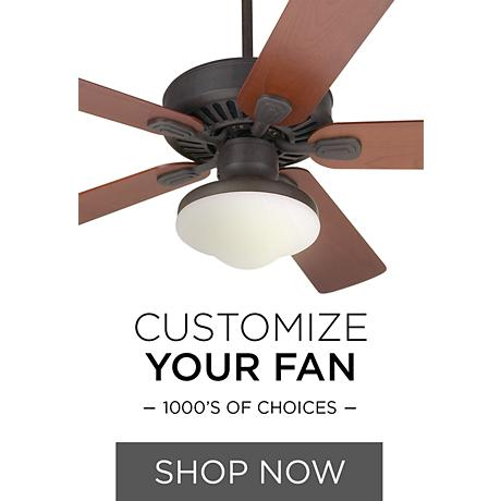 Design Your Own Ceiling Fan - 1000's of Combinations