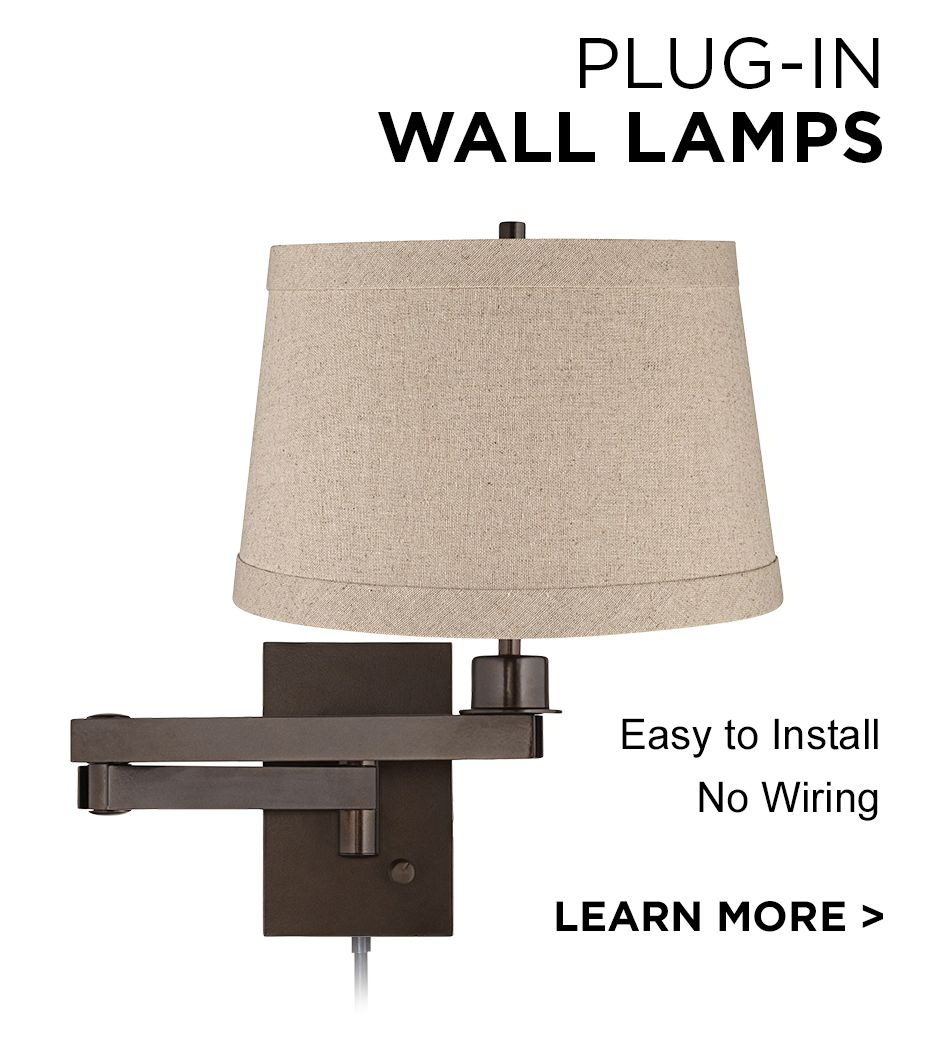 learn more about plugin wall lamps