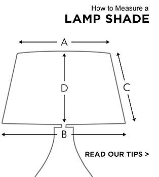 Lamp shades lamps plus how to measure a lamp shade mozeypictures Images