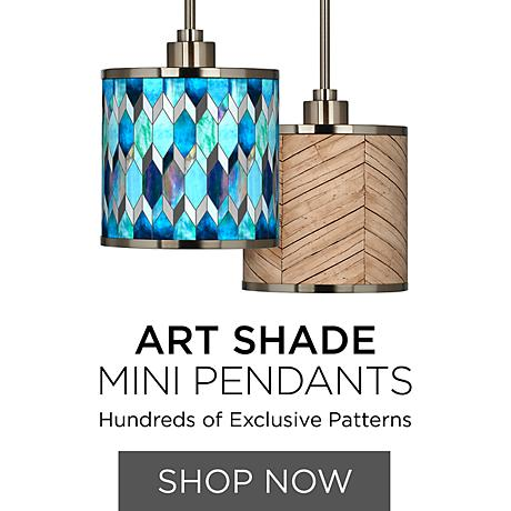 Art Shade Mini Pendants - Unique Designs, Patterns & Colors