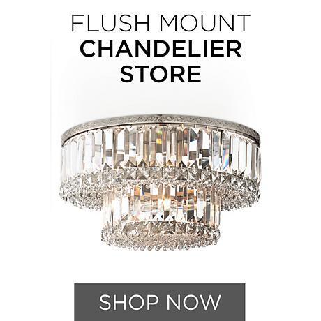 Crystal Flush Mount Chandeliers