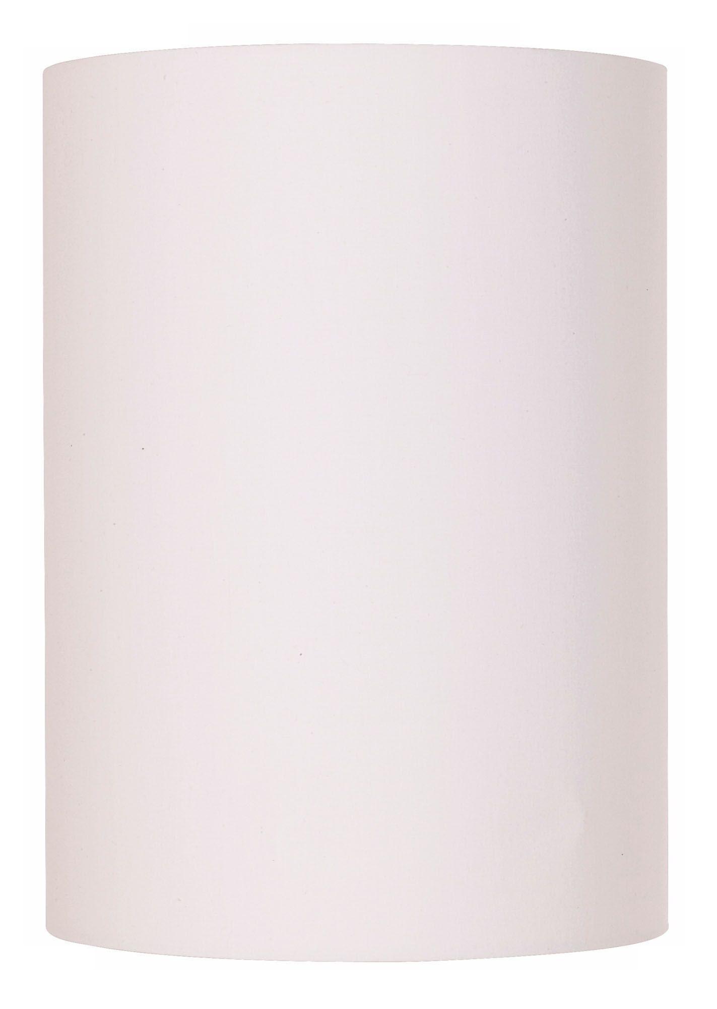 White Cotton Drum Cylinder Shade 8x8x11 (Spider)