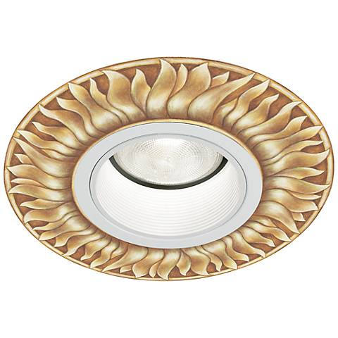 "Lightolier 5"" White Recessed Trim with Florentine Medallion"