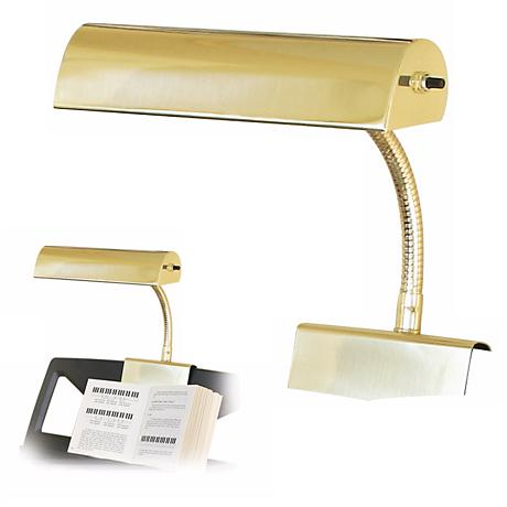 House of Troy Polished Brass Finish Grand Piano Lamp