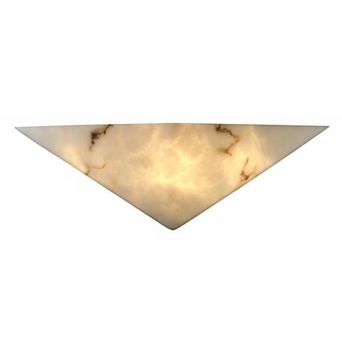 Faux Alabaster Triangle Wall Sconce