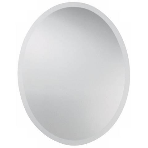 """Uttermost 28"""" High Frameless Oval Wall Mirror"""