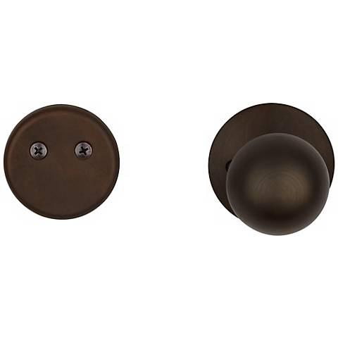 Schlage Orbit Oil-Rubbed Bronze Inside Dummy Door Knob