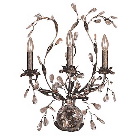 """Circeo Collection 24"""" High Three Light Wall Sconce"""