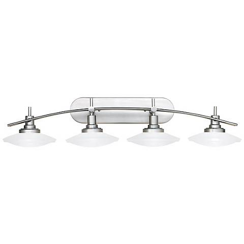 "Structures Nickel 40"" Wide Bathroom Light Fixture"