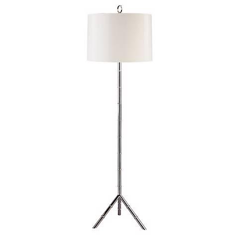 jonathan adler meurice silver floor lamp 01690 lamps plus. Black Bedroom Furniture Sets. Home Design Ideas