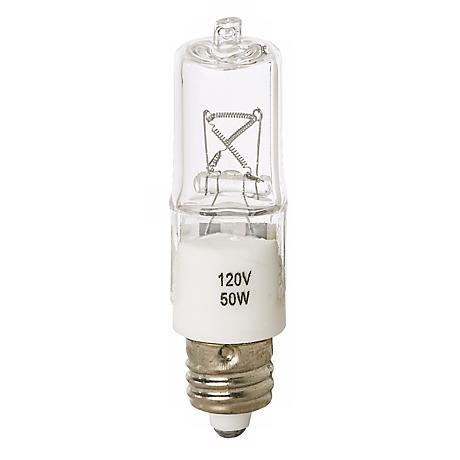 Tesler 50 Watt Mini Can Clear Short Halogen Light Bulb