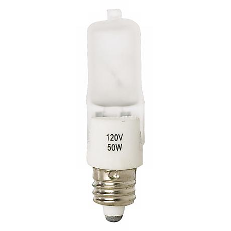 Tesler 50 Watt Mini Can Short Frosted Halogen Light Bulb