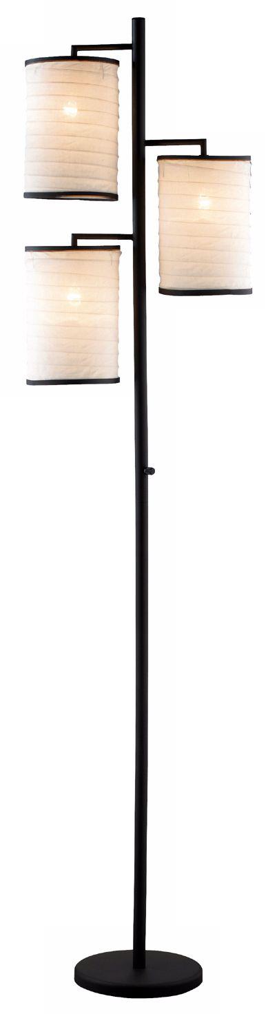 frederick cooper bradson black shade swing arm floor lamp br