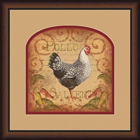 """Pollo Caliente 19 3/4"""" Square Wall Art"""