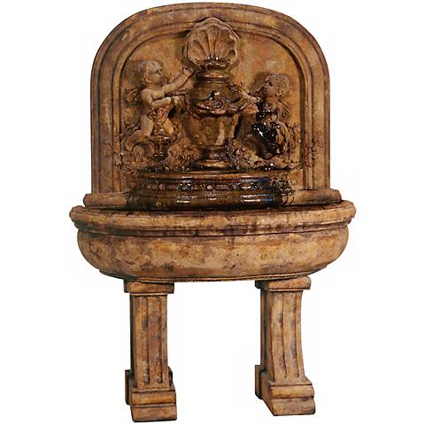 "Henri Studio Grand Cherubs 69"" High Lavabo Fountain"
