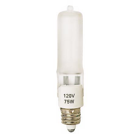 Tesler 75 Watt Mini Candelabra Frosted Halogen Light Bulb
