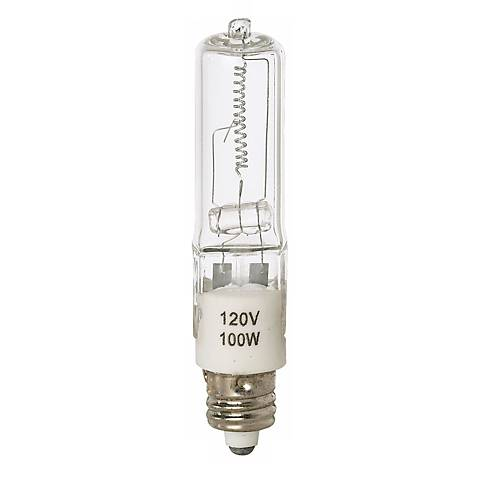 Tesler 100 Watt Mini Candelabra Clear Halogen Light Bulb