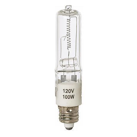 Tesler 100 Watt Mini Candelabra Clear Halogen Light Bulb