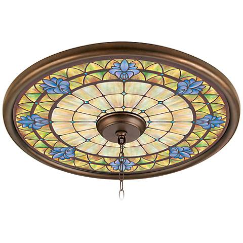 "Orchid Chapel 24"" Giclee Bronze Ceiling Medallion"