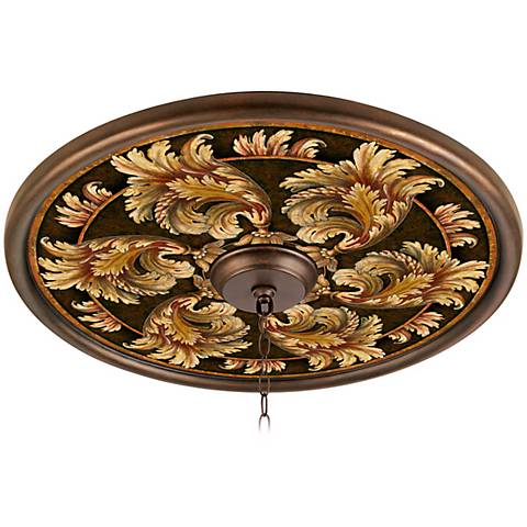 "Corinthian Jewel 24"" Giclee Bronze Ceiling Medallion"