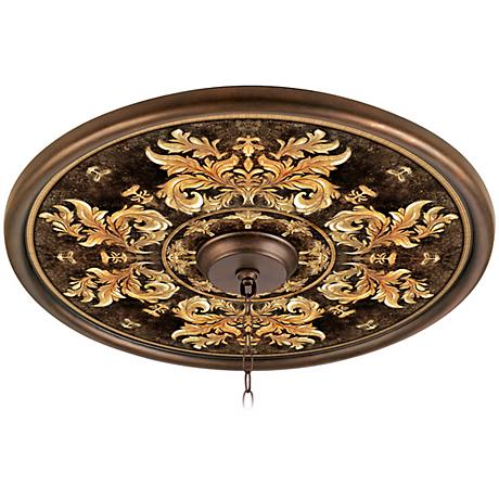 """King's Way 24"""" Giclee Bronze Ceiling Medallion"""