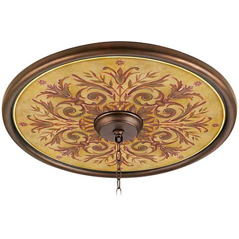 "Tuscan Wine 24"" Wide Bronze Finish Ceiling Medallion"