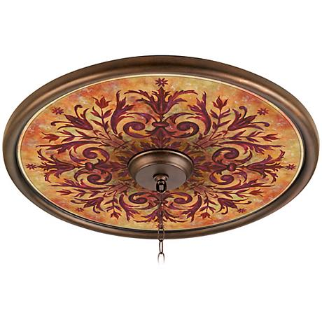 """Tuscan Fire 24"""" Wide Bronze Finish Ceiling Medallion"""