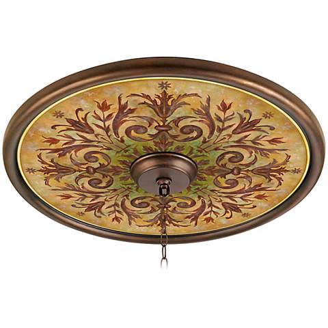"Tuscan Basil 24"" Wide Bronze Finish Ceiling Medallion"