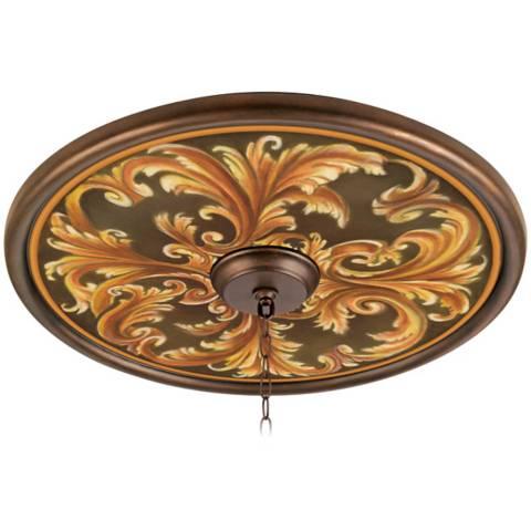 Acanthus Regal 24 Wide Bronze Finish Ceiling Medallion 02777 G7144