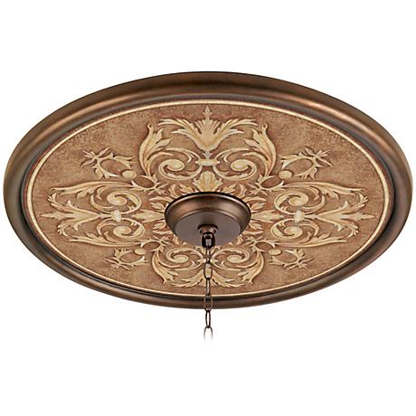 """Antiquity Clay 24"""" Wide Bronze Finish Ceiling Medallion"""