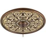 """Madrid Clay 24"""" Wide Bronze Finish Ceiling Medallion"""