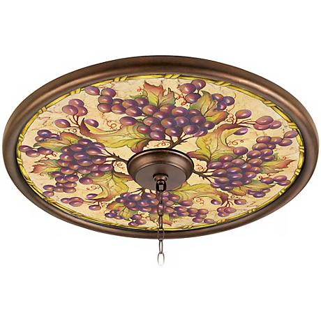 """Tuscan Grapes 24"""" Giclee Bronze Ceiling Medallion"""