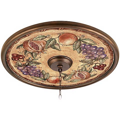 "Tuscan Fruit 24"" Giclee Bronze Ceiling Medallion"