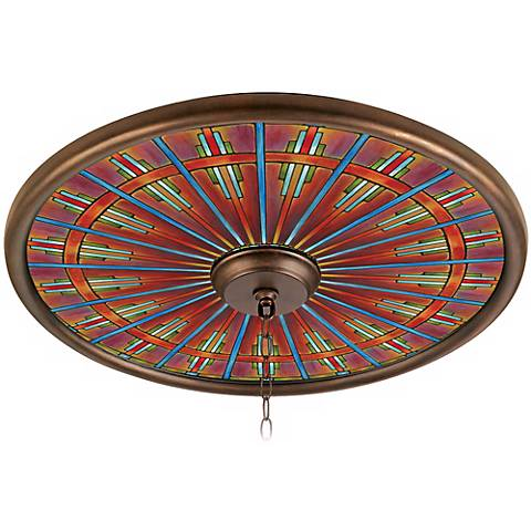 "Kaleidoscope 24"" Wide Bronze Finish Ceiling Medallion"