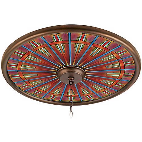 "Kaleidoscope 24"" Wide Bronze Finish Ceiling Medallion"