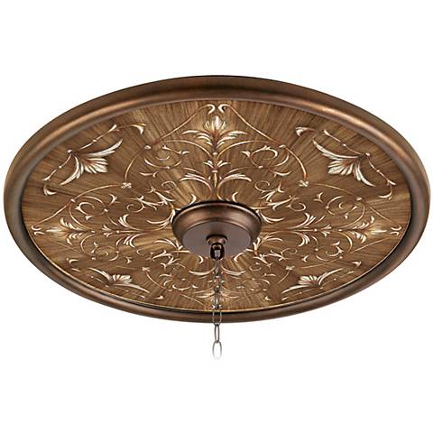 "La Fleur Brune 24"" Wide Bronze Finish Ceiling Medallion"