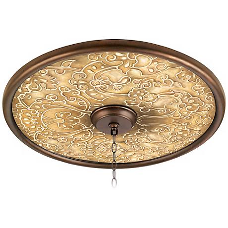 "Orleans Scroll 24"" Wide Bronze Finish Ceiling Medallion - #02777-Y6593 ..."