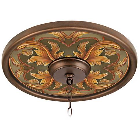 "Etruscan Sunset 16"" Wide Bronze Finish Ceiling Medallion"