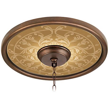Tracery Spice 16 Quot Wide Bronze Finish Ceiling Medallion