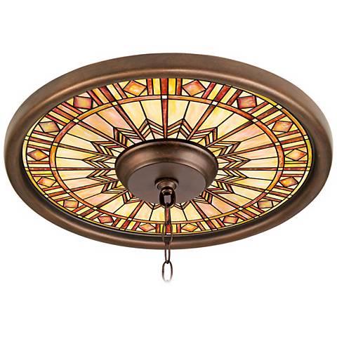 "Mackintosh Sun 16"" Wide Bronze Finish Ceiling Medallion"
