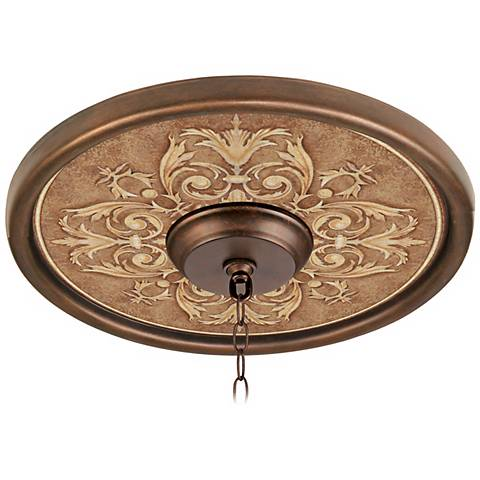 Antiquity Clay 16 Quot Wide Bronze Finish Ceiling Medallion