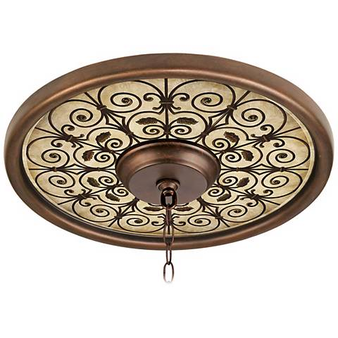 """Madrid Clay 16"""" Wide Bronze Finish Ceiling Medallion"""