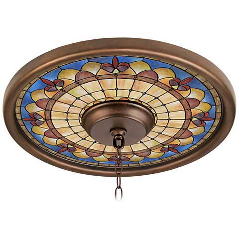 "Tiffany Royal 16"" Wide Bronze Finish Ceiling Medallion"