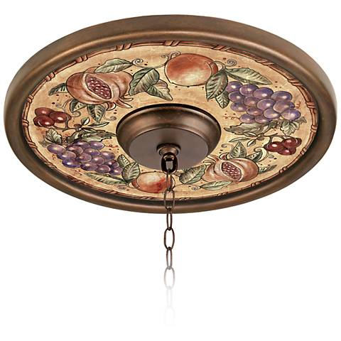"Tuscan Fruit 16"" Wide Bronze Finish Ceiling Medallion"