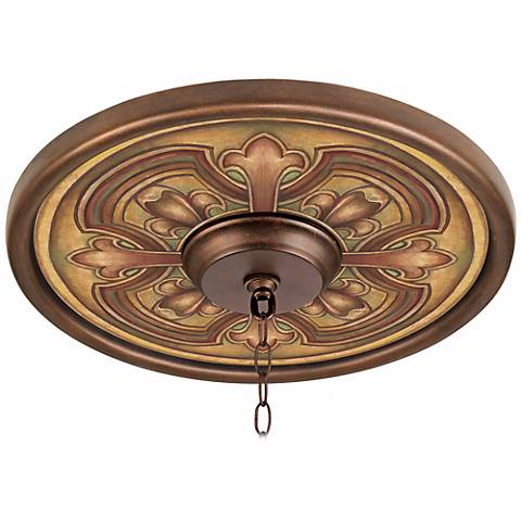 "Siena Giclee 16"" Wide Bronze Ceiling Medallion"