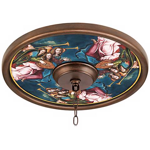 "angel choir giclee 16"" wide bronze ceiling medallion - #02975"