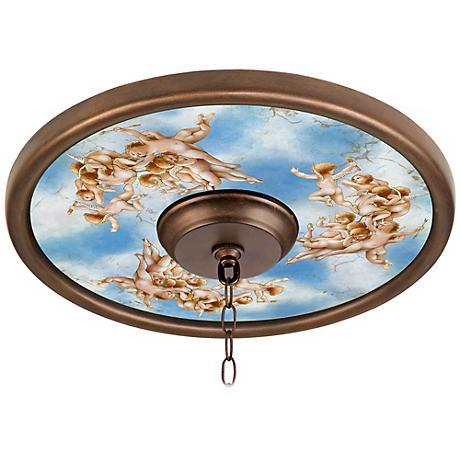 """Celestial 16"""" Wide 4"""" Center Bronze Ceiling Medallion"""