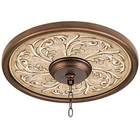 "Sarah Ann 16"" Wide Bronze Finish Ceiling Medallion"