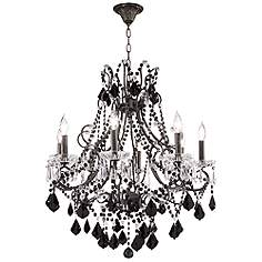Black and crystal chandeliers thejots black crystal chandeliers lamps plus lighting ideas mozeypictures Gallery