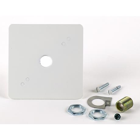 Juno White Finish Outlet Box Cover